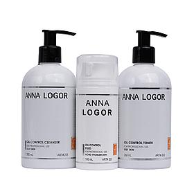 Набор косметики по уходу Anna LOGOR Oil Control + Fluid для  увлажнения жирной кожи лица