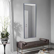 Зеркало прямоугольное в полный рост синего цвета