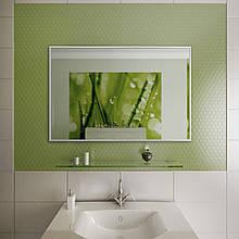 Зеркало для ванной в алюминиевой раме