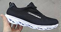 Jordan jump! Качественные летние мужские кроссовки джоржан сетка, кросовки лёгкие дышащие чёрного цвета