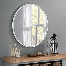 Круглое зеркало цвет белый 1000 мм