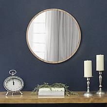 Круглое зеркало 600 мм дуб сонома