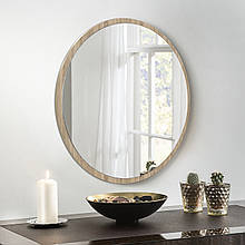 Круглое зеркало 800 мм дуб сонома