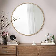 Круглое зеркало 1000 мм дуб сонома