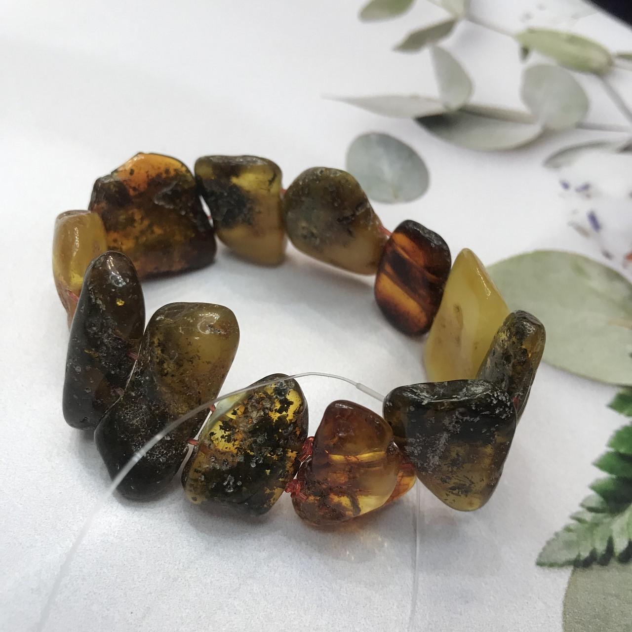 Янтарь браслет натуральный природный янтарь браслет на резинке.