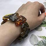 Янтарь браслет натуральный природный янтарь браслет на резинке., фото 2