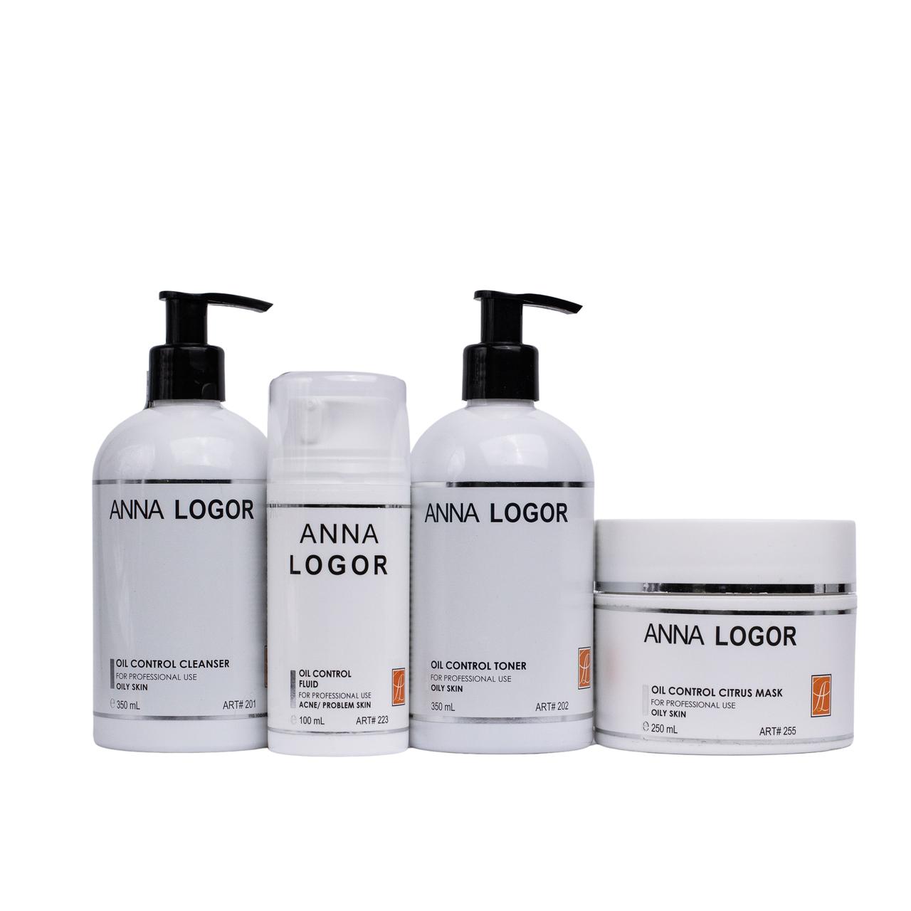 Набор косметики Комплексный уход  Anna LOGOR Oil Control Citrus для жирной кожи лица Art.201 223 202 255