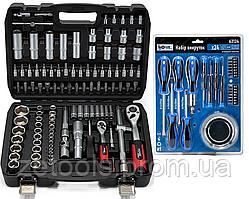 Набор инструментов 108 ед. 1/2'',1/4'' (6-гр.)(4-32 мм) PROFLINE+Набор из 24 единиц фирмыPROFLINE 63124