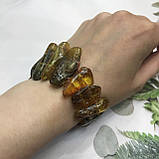 Янтарь браслет натуральный природный янтарь браслет на резинке., фото 3