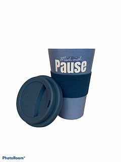 Бамбукова кавова еко гуртка To Go Becher синя Mach Mal Pause