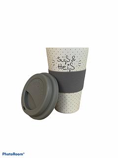 Бамбукова кавова еко гуртка To Go Becher сіра