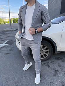 Классический Мужской костюм grey