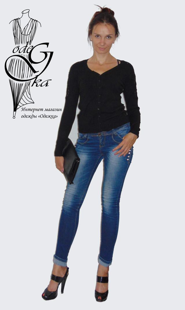 Фото-1 Женских кофточек с длинным рукавом на пуговках 44-48 размера Снежинка KfSr4805