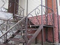 Ковка лестницы современные