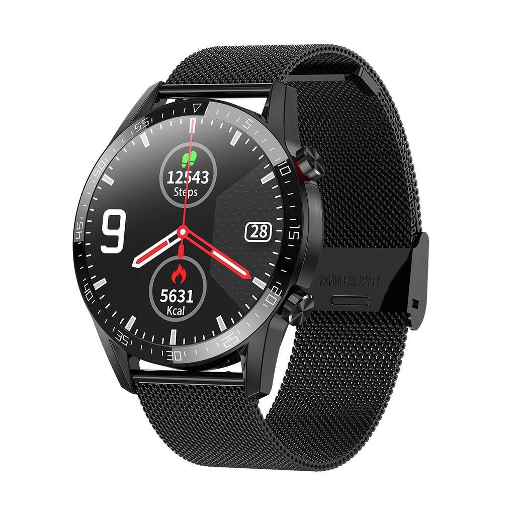 Умные часы Lemfo L13 Metal с тонометром и снятием ЭКГ Черный (swleml13metbl)