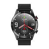 Умные часы Lemfo L13 Metal с тонометром и снятием ЭКГ Черный (swleml13metbl), фото 2