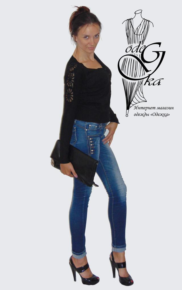 Фото-2 Женских кофточек с длинным рукавом на пуговках 44-48 размера Снежинка KfSr4805