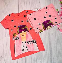Футболка для девочки 8, 9, 10, 11, 12 лет, розовый