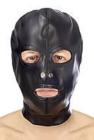 Капюшон для БДСМ с открытыми глазами и ртом Fetish Tentation Open mouth and eyes BDSM hood