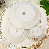 Немецкая чайная тройка, фарфоровая чашка, блюдце и десертная тарелка, Schirnding Porzellan, Германия, фото 10