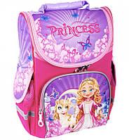 Ранец школьный каркасный 1, 2 класс Принцесса Рюкзак портфель ранец первоклассника для девочки Розовый