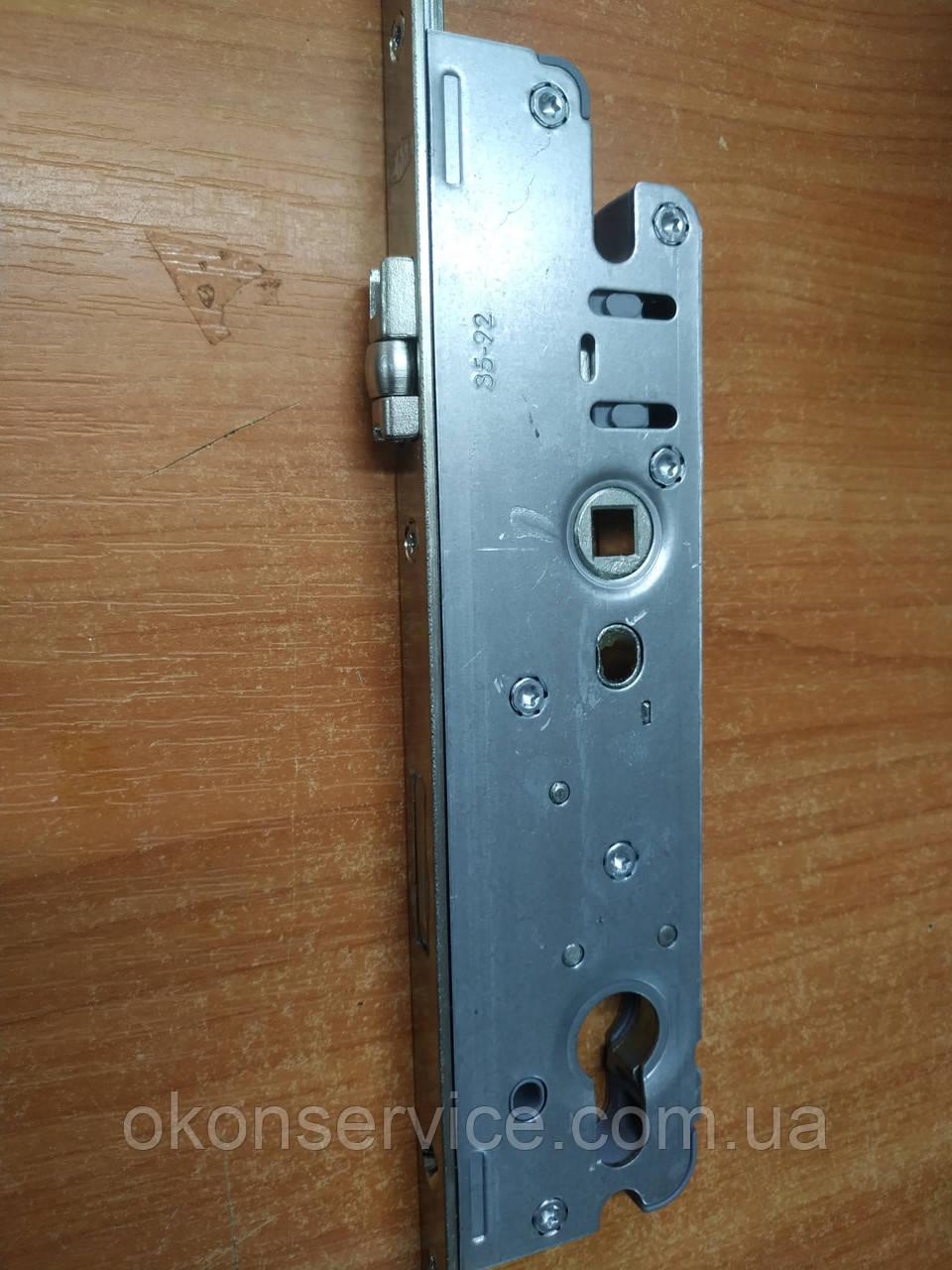 Замок рейка Ворне 35/92/2200 замикання від ключа,ролик