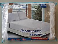 Водонепроницаемая простынь наматрасник на резинке 160х200+22см Лелека Текстиль