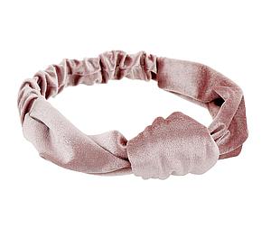 Пыльно-розовая велюровая повязка для волос