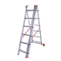 Драбина алюмінієва трисекційна Laddermaster Sirius A3A6 3x6 сходинок