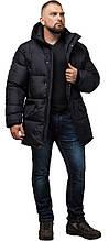 Трендовая мужская зимняя куртка чёрная модель 27055