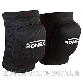 Наколенник волейбольный Ronex RX-075 черный размер S 2 шт SKL83-282781