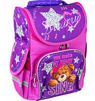 Ранец каркасный первоклассника Школьный рюкзак портфель ранец для девочки 1, 2 класс Фиолетовый