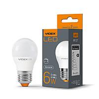 LED лампа VIDEX G45eD 6W 4100K E27 дімерна, фото 1