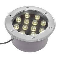Світильник грунтовий LED вбудовуваний Brille IP67 LG-24/12W, фото 1