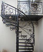 Лестницы ковка белая