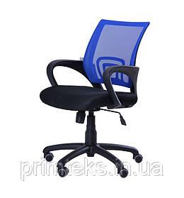 Кресло Веб сиденье Сетка черная/спинка Сетка синяя