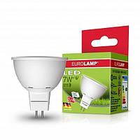 LED Лампа EUROLAMP ЕКО SMD MR16 7W GU5.3 4000K, фото 1