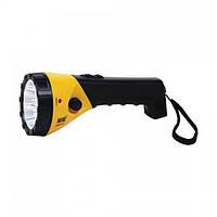Ліхтар світлодіодний Horoz Electric Puskas-2 LED 0.5 Вт 25Лм 6400К батарея 0.4 Ач жовтий (084-005-0002)