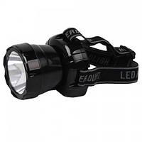 Ліхтар світлодіодний налобний Horoz Electric Beckham-3 LED 3Вт 200Лм 7000-9000К батарея 900мАч чорний