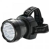 Ліхтар світлодіодний налобний Horoz Electric Beckham-4 LED 0.9 Вт 45Лм 7000-9000К батарея 900мАч чорний