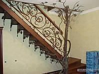 Красивая кованная лестницаПерила кованые для лестницы на улице