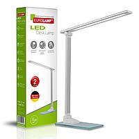 EUROLAMP LED Світильник настільний металевий + скло в стилі хайтек 5W 5300-5700K срібний