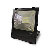 EUROELECTRIC LED SMD Прожектор чорний з радіатором 100W 6500K