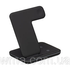 Беспроводное Зарядное Устройство Fast Wireless Charger Z5A 3in1 Цвет Чёрный