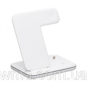 Беспроводное Зарядное Устройство Fast Wireless Charger Z5A 3in1 Цвет Белый