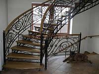 Кованые перила для лестницы недорого