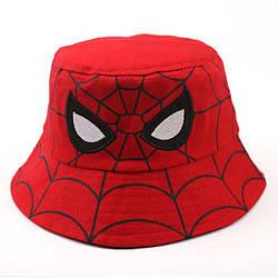 Панама детская хлопковая «Человек-паук», Красная