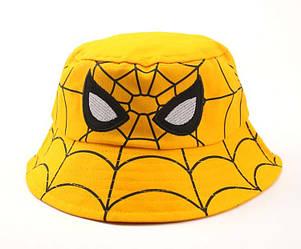 Панама детская хлопковая «Человек-паук», Желтая