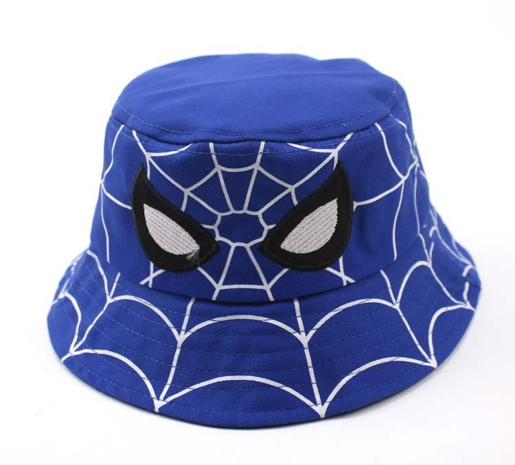 Панама детская хлопковая «Человек-паук», Синяя