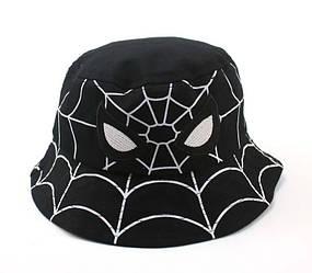 Панама детская хлопковая «Человек-паук», Черная